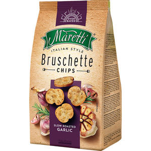 Maretti Bruschette Slow Roasted Garlic, Brotchips