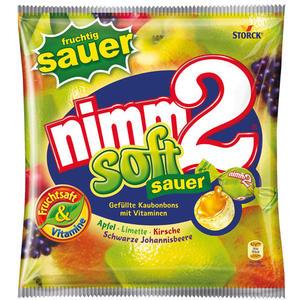 nimm2 Soft sauer, gefüllte Kaubonbons mit Vitaminen