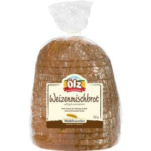 Ölz Mühlviertler Schnittbrot Weizenmischbrot, geschnitten