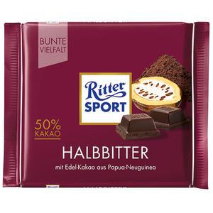 Ritter Sport Bunte Vielfalt Halbbitter, 50% Kakao