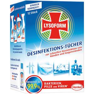 Lysoform Desinfektions-Tücher, einzeln verpackt