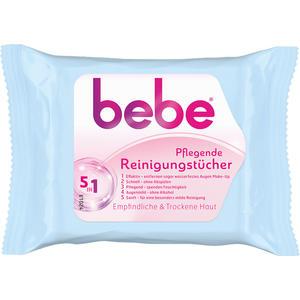 bebe Pflegende Reinigungstücher 5in1, für empfindliche und trockene Haut