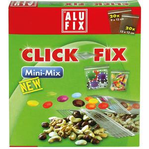 Alufix Click-Fix Mini-Mix, Haushaltssäcke mit Druckverschluß, 2 Größen