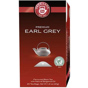 Teekanne Premium Earl Grey, Schwarztee, Teebeutel im Kuvert