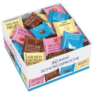 Ritter Sport Mini Schokosprüche, 4 Sorten (Alpenmilch, Knusperkeks, Erdbeer Joghurt, Weisse Schokolade), 84 Stück