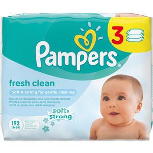 Pampers Feuchte Tücher Fresh Clean, Nachfüllpackung, 3 x 64 Stück