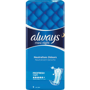 Always Binden Maxi Night PROFRESH, neutralisiert Gerüche