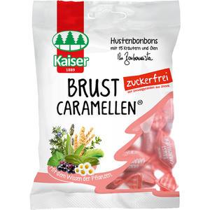 Kaiser Brust Caramellen zuckerfrei, Hustenbonbons