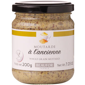 Beaufor Dijon-Senf Moutarde à l'Ancienne, körnig aus Frankreich