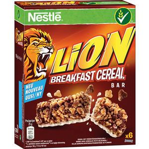 Nestlé Lion Breakfast Cereal, Cerealien-Riegel, 6 Stück
