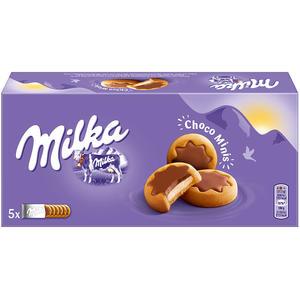 Milka ChocoMinis, Kekse mit Milchcreme, 5 x 6 Stück einzeln verpackt
