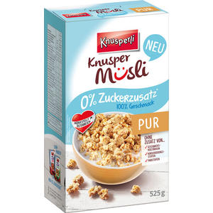 Knusperli Knusper Müsli PUR, 0 % Zuckerzusatz