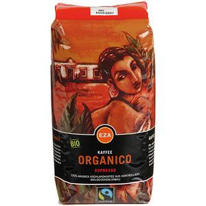 EZA Fairtrade Organico Espresso, Bio-Kaffee, Ganze Bohne