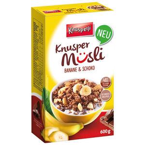 Knusperli Knusper Müsli Banane & Schokolade