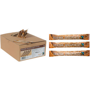 Hellma Wiener Zucker Fairtrade Brauner Rohrzucker Zuckersticks, 200 Sticks à 4,5 g, Display-Karton