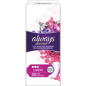 Always discreet Inkontinenz Normal Slipeinlagen, leichte Blasenschwäche