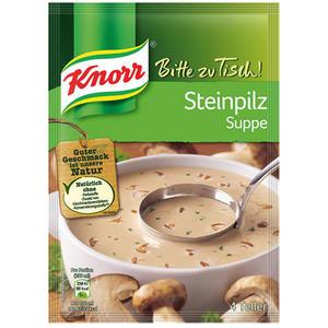 Knorr Bitte zu Tisch! Steinpilz-Suppe, 4 Teller
