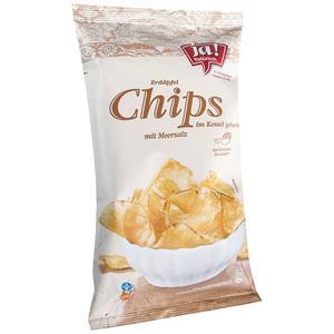 ja! Natürlich. Bio Erdäpfel-Chips mit Meersalz, im Kessel gebacken