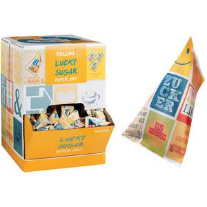 Hellma Lucky Sugar Paper Art, 500 Zuckerpyramiden à 4,5 g, Display-Karton