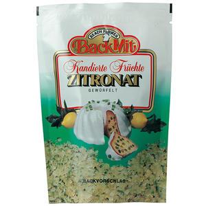 Back Mit Kandierte Früchte Zitronat, gewürfelt