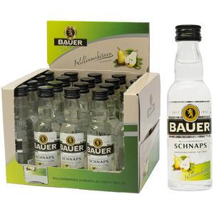 Bauer Styrian Panther Spirit Williamsbirnen-Schnaps, 36 % Vol.Alk., 20 x 40 ml Flasche