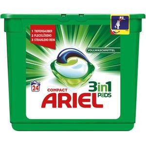 Ariel Compact 3in1 Pods, Vollwaschmittel-Tabs 24 WG