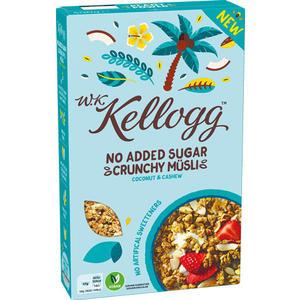 W.K. Kellogg Crunchy Müsli Coconut & Cashew, ohne Zuckerzusatz