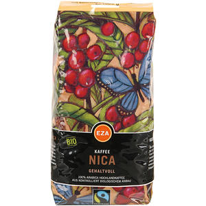 EZA Fairtrade Nica Gehaltvoll, Bio-Kaffee, Ganze Bohne