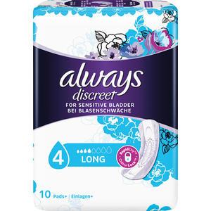 Always discreet Inkontinenz Long 4 Einlagen, mittlere Blasenschwäche