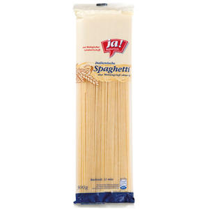 ja! Natürlich. Italienische Bio Spaghetti