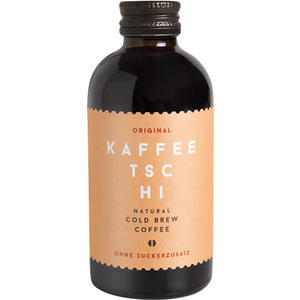 Kaffeetschi Original, Natural Cold Brew Coffee, ohne Zuckerzusatz, Glasflasche