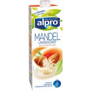 Alpro Mandel Drink ungesüßt, aus Mandeln ohne Soja