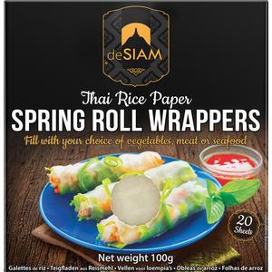deSIAM Reispapier, Blätter aus Reismehl, 20 Stück
