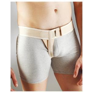 Leistenbruchgürtel, Leistengurt, Medizinischer Stützgürtel für Leistenbrüche, Einseitig, Hergestellt aus flexiblen Baumwollgewebe - LINKS L