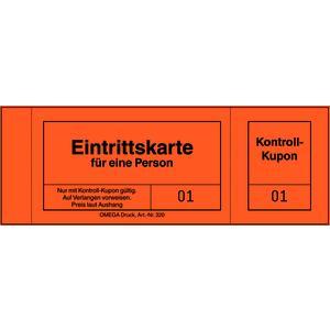 Eintrittskarten 320/6 ORANGE, 10 Blöcke á 100 Blatt