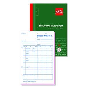 Zimmerrechnungsbuch 518 AOK, 5 Stk. (=1VE) DIN A5 hoch 2x50Blatt SD