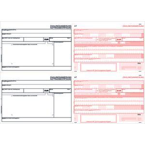 SEPA-Doppel-Zahlscheine 2119, 1.000 Blatt A4 quer, 2 Anw. übereinander