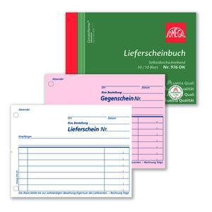Lieferscheinbuch 976OK, 10 Stk. (=1VE) DIN A6 quer 2x50Blatt SD