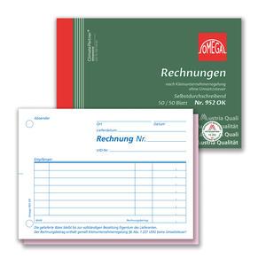 Rechnungsbuch 952OK, 10 Stk. (=1VE) DIN A6 quer 2x50Blatt SD