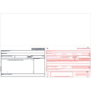 SEPA-Zahlscheine 2117, 1.000 Blatt A4 quer, Allonge oben