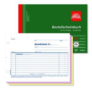 Bestellscheinbuch 2961OK, 5 Stk. (=1VE) DIN A5 quer 3x50Blatt SD