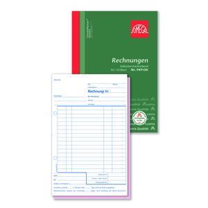 Rechnungsbuch 949OK, 5 Stk. (=1VE) DIN A5 hoch 2x50 Blatt SD