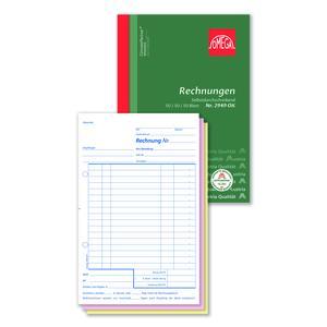 Rechnungsbuch 2949OK, 5 Stk. (=1VE) DIN A5 hoch 3x50Blatt SD