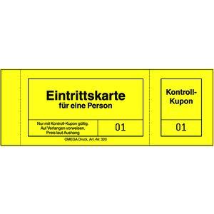 Eintrittskarten 320/1 GELB, 10 Blöcke á 100 Blatt