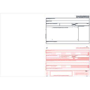 SEPA-Zahlscheine 2121, 1.000 Blatt A4 quer, Allonge links