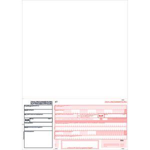 SEPA-Zahlscheine 2123, 1.000 Blatt A4 hoch, Allonge oben