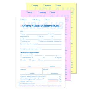 Urlaubsantrag OF 21 - A5 hoch, 3-fach, 40 Garnituren/Pack SD