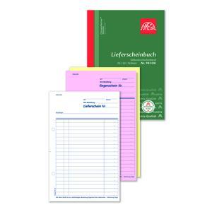 Lieferscheinbuch 945OK, 5 Stk. (=1VE) DIN A5 hoch 3x50Blatt SD