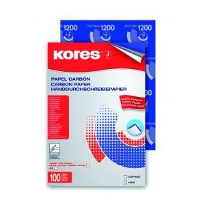 """Kores 1200"""" Mappe mit 100 Blatt, Durchschreibepapier blauschreibend, DIN A4"""""""