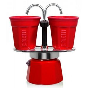Bialetti Mini -Express incl. 2 Becher (rot)
